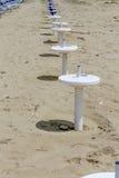 Стойка зонтика на пляже Стоковое Изображение RF