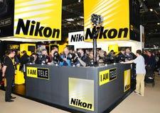 Стойка дисплея Nikon стоковая фотография rf