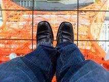 Стойка на башне токио Стоковое Изображение RF