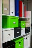Стойка документации с коробками стоковое изображение rf