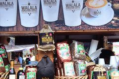 Стойка продавая продукты в Майя Мексике Casta стоковое фото