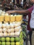 Стойка сока свежих фруктов Стоковое Изображение RF