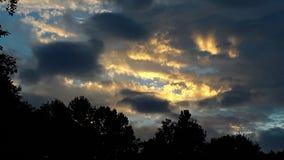 Стойка солнца последняя стоковая фотография