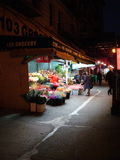 Стойка цветка Нью-Йорка ночи Стоковые Фото