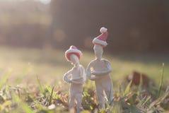 Стойка 2 человек на траве Стоковые Фотографии RF