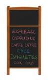 стойка 2 разделов меню выреза chalkboard Стоковое фото RF