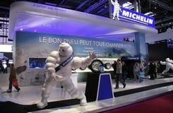 стойка 2010 выставки paris мотора michelin стоковые изображения rf