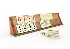 стойка 3d деревянная Rummikub - Стоковые Фото