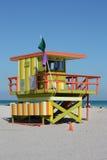 стойка miami личной охраны пляжа южная Стоковое фото RF