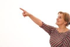 Стойки более старой женщины Стоковые Фото