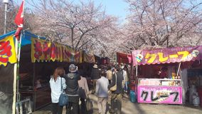Стойки в японском фестивале Стоковое фото RF