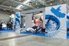 Стойки на большом голубом экспо 2014 Стоковое Фото