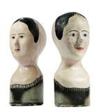 Стойки парика антикварного магазина Стоковое Изображение