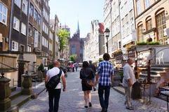 Стойки сувенира улицы людей Стоковое Фото