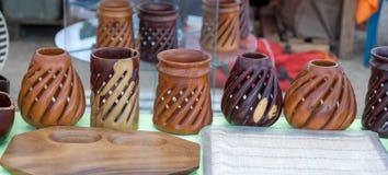 Стойки для ручек - Косты изделий из древесины handmade Стоковая Фотография