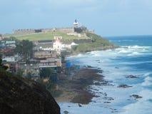 Стойки San Felipe del Morro Крепости защищают над Сан-Хуаном Пуэрто-Рико Стоковые Изображения