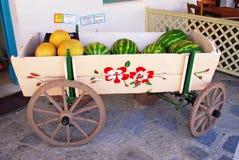 Стойл плодоовощ в острове Astypalaia, Греции стоковое изображение