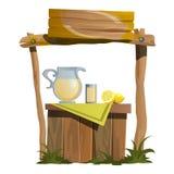 Стойте для подготовки и продавать пить цитруса иллюстрация штока