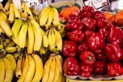 Стойл плодоовощ рынка Стоковое Фото