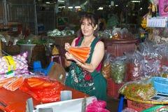 Стойл с цветками на рынке цветка в Бангкоке Стоковые Изображения