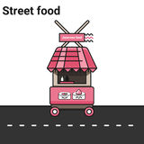 Стойл с японской едой свертывает суши Стоковое Изображение RF