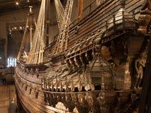 СТОКГОЛЬМ - 6-ОЕ ЯНВАРЯ: Военный корабль Vasa XVII века спасенный от Стоковые Изображения