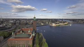 Стокгольм Швеция летом сток-видео