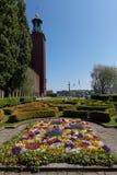 Стокгольм, Швеция - 29-ое мая 2016: Взгляд здание муниципалитета a Стокгольма Стоковая Фотография RF