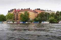 Стокгольм шлюпкой Стоковое фото RF