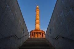 Столбец победы, Goldelse, Берлин, Германия, Европа стоковая фотография