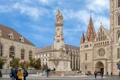 Столбец святой троицы в середине квадрата троицы, Будапешта стоковая фотография rf