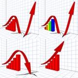столбиковая диаграмма стрелки Иллюстрация вектора