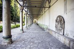 Столбцы в ряд, вперед Музей Topkapi, Стамбул стоковое фото rf