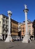 Столбцы в signori dei аркады в Виченца, Италии стоковое фото rf