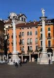 Столбцы в signori dei аркады в Виченца, Италии стоковые фотографии rf