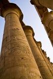Столбцы на Luxor Temple стоковое фото