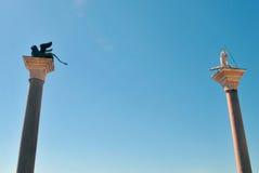 Столбцы St Mark и Святого Теодора, исполнения, Стоковые Изображения RF