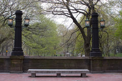 Столбы светильника, Central Park, NY Стоковое Изображение RF
