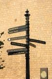 Столб знака, ванна, Англия, Великобритания Стоковые Фотографии RF