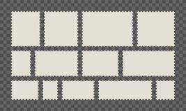 Столб или открытки вектора штемпеля почтового сбора бесплатная иллюстрация