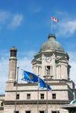 столб Квебек городского управления старый Стоковая Фотография