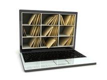 столб компьтер-книжки бесплатная иллюстрация