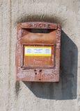 столб коробки итальянский старый Стоковая Фотография RF