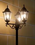 Столб светильника год сбора винограда Стоковые Фотографии RF