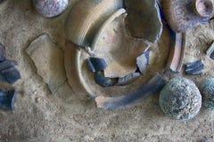 Столетие керамики 10-11 штукатурки и гончарни от славянской группы языков (и Vikin Стоковое фото RF