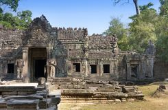 Столетие Preah Khan ruins12th виска в Angkor Wat, Siem Reap, Камбодже стоковые изображения rf