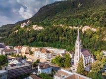 Столица Вадуц Лихтенштейна стоковая фотография