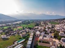 Столица Вадуц Лихтенштейна стоковое фото