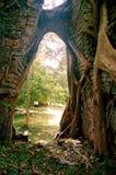 Столица всемирного наследия висков САМБО PREI KUH Chenla размещала в провинции Камбодже thom Kampong Стоковое фото RF