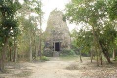 Столица всемирного наследия висков САМБО PREI KUH Chenla размещала в провинции Камбодже thom Kampong Стоковое Изображение